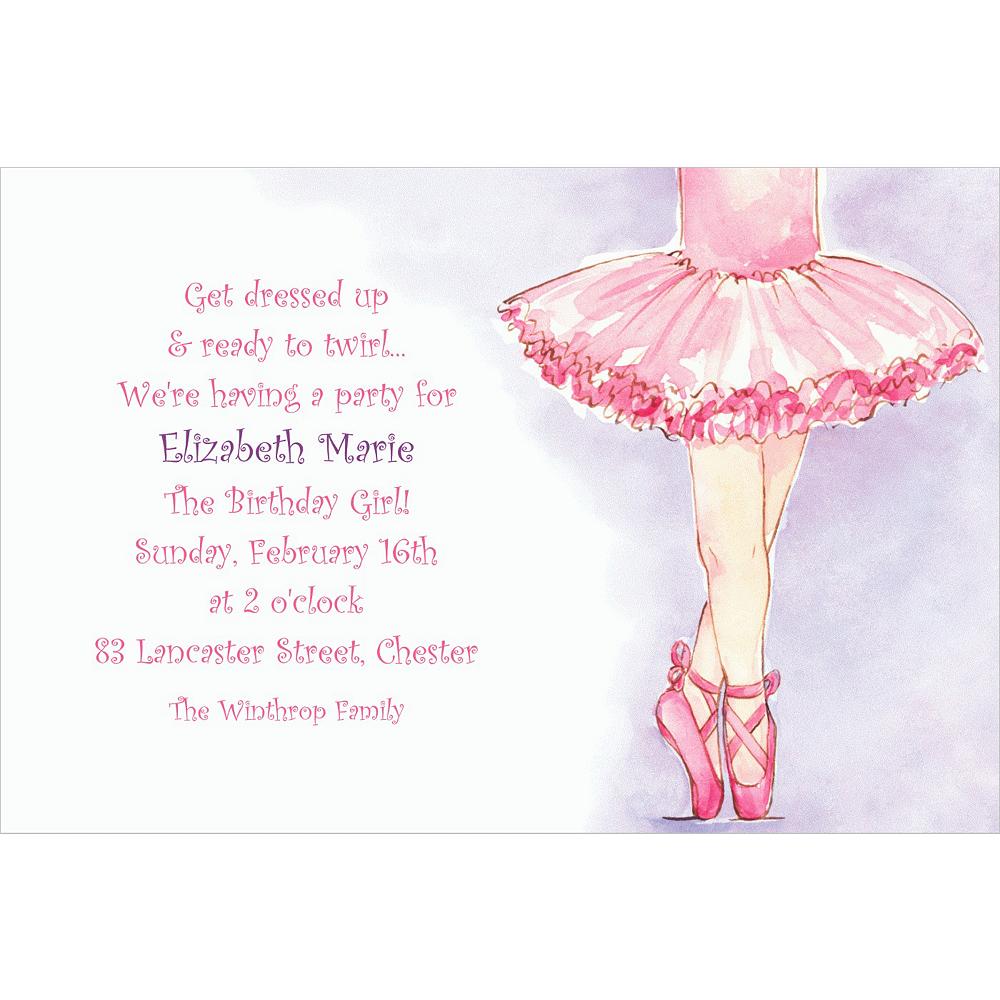 Custom little ballerina invitations party city custom little ballerina invitations stopboris Choice Image