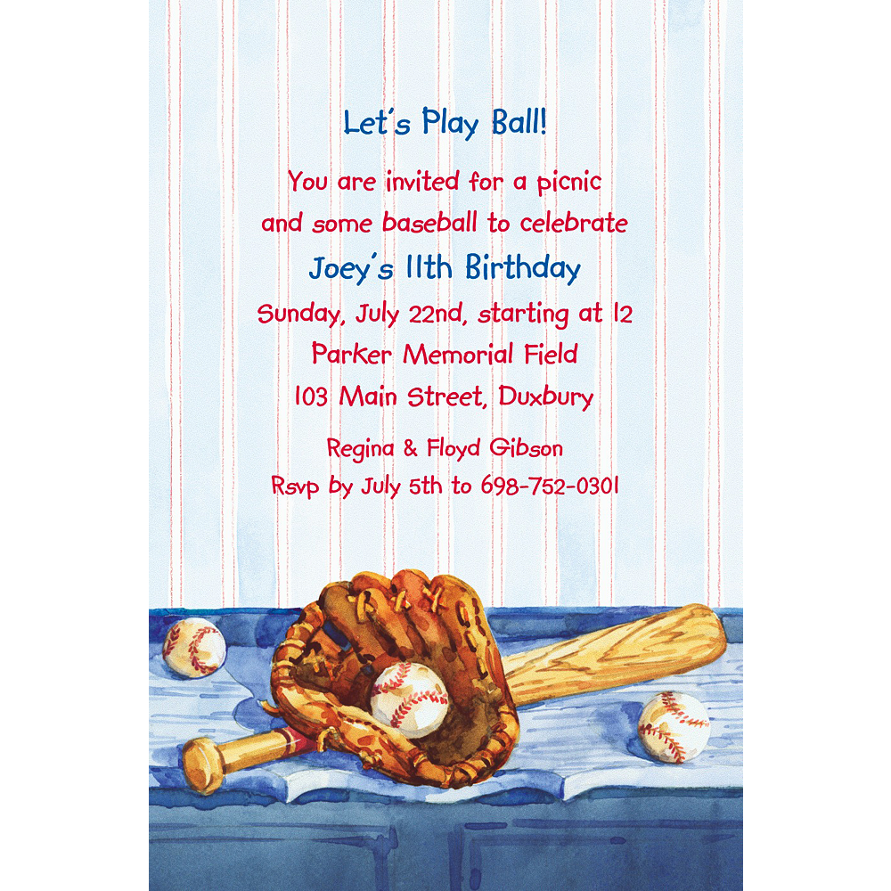 Custom Baseball Still Life Invitations Image 1
