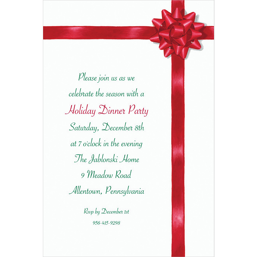 Custom All Wrapped Up Christmas Invitations Image #1