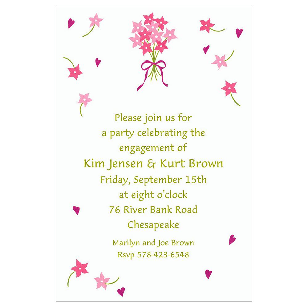 Custom Bouquet & Florets Bridal Shower Invitations Image #1