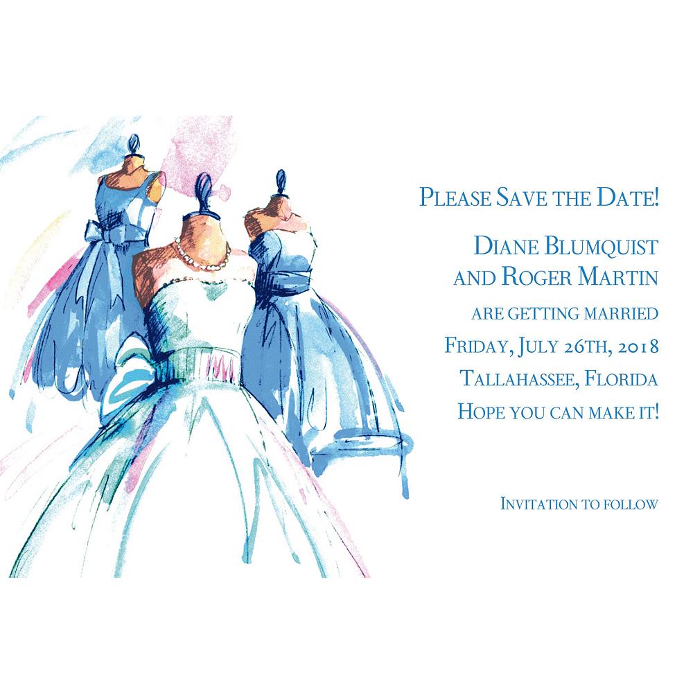 Custom Bride & Maids Gowns Wedding Invitations Image #1