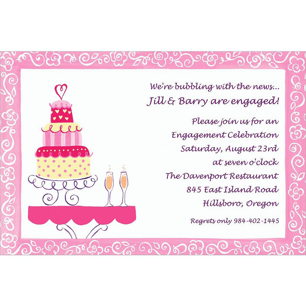 Custom Bridal Shower Cake & Champagne Bridal Shower Invitations ...