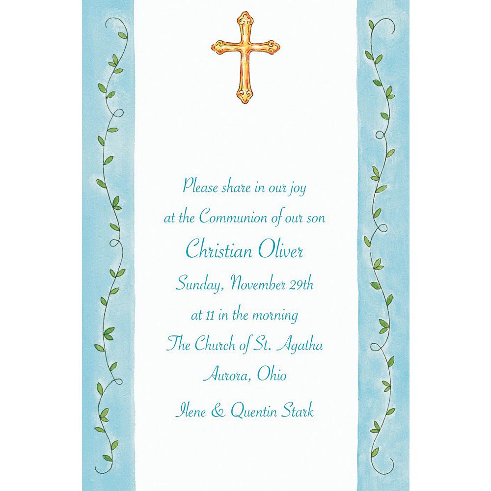 Custom Filigree Cross with Vines Invitations Image #1