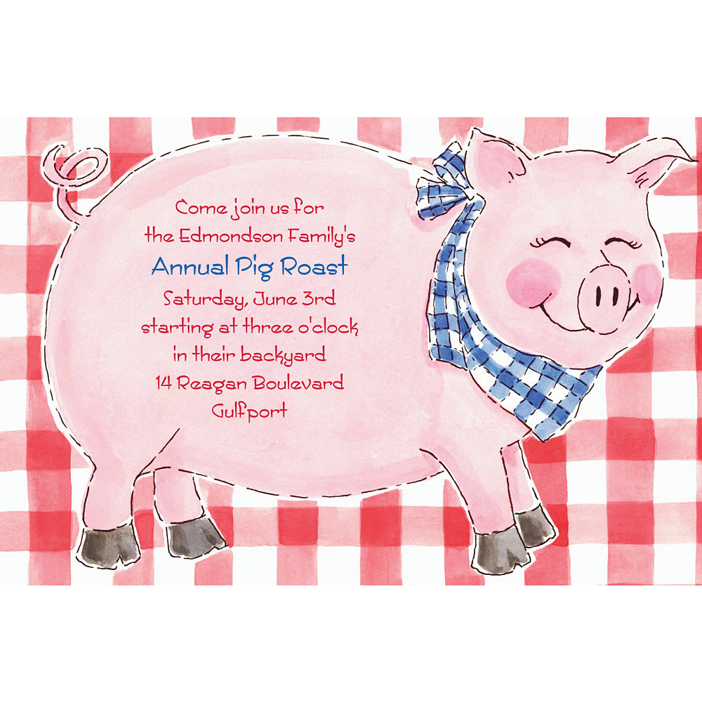 Custom Big Pig Roast Invitations Image #1