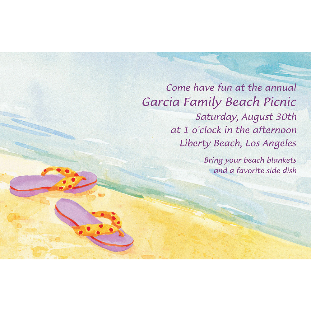Custom Sandals in the Sand Invitations Image #1