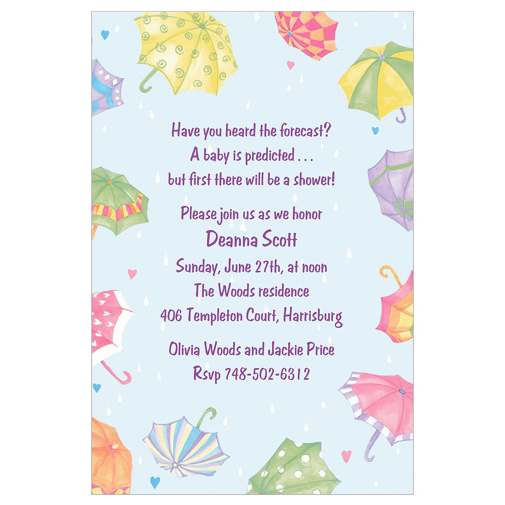 Custom Umbrellas Baby Shower Invitations  Image #1