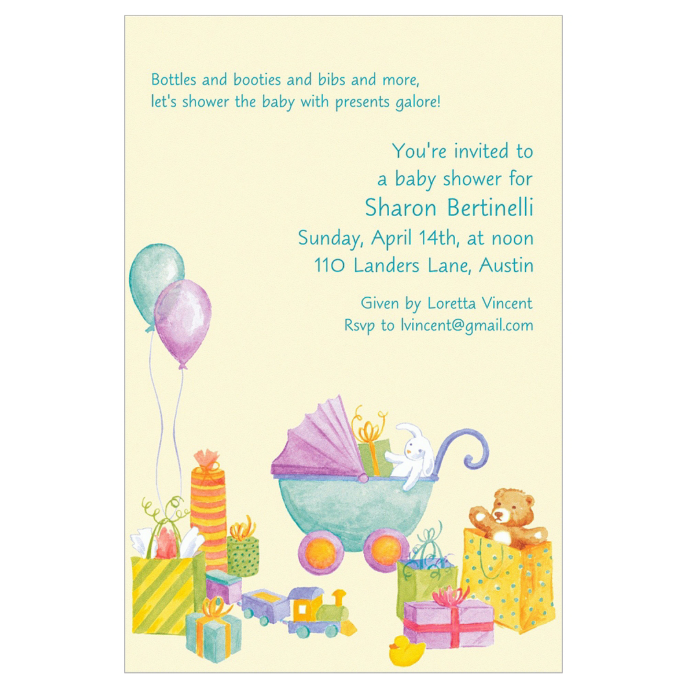 Custom It's a Baby Shower! Baby Shower Invitations Image #1