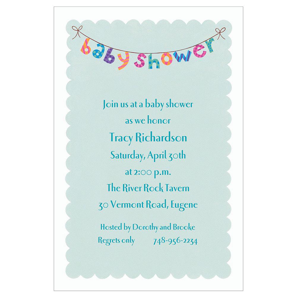 Custom Baby Shower Banner Baby Shower Invitations Image #1