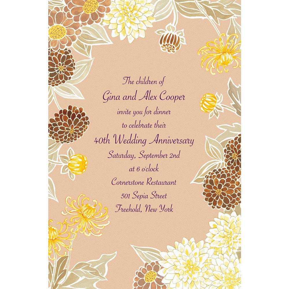 Custom Yellow Zinnias Invitations Image #1