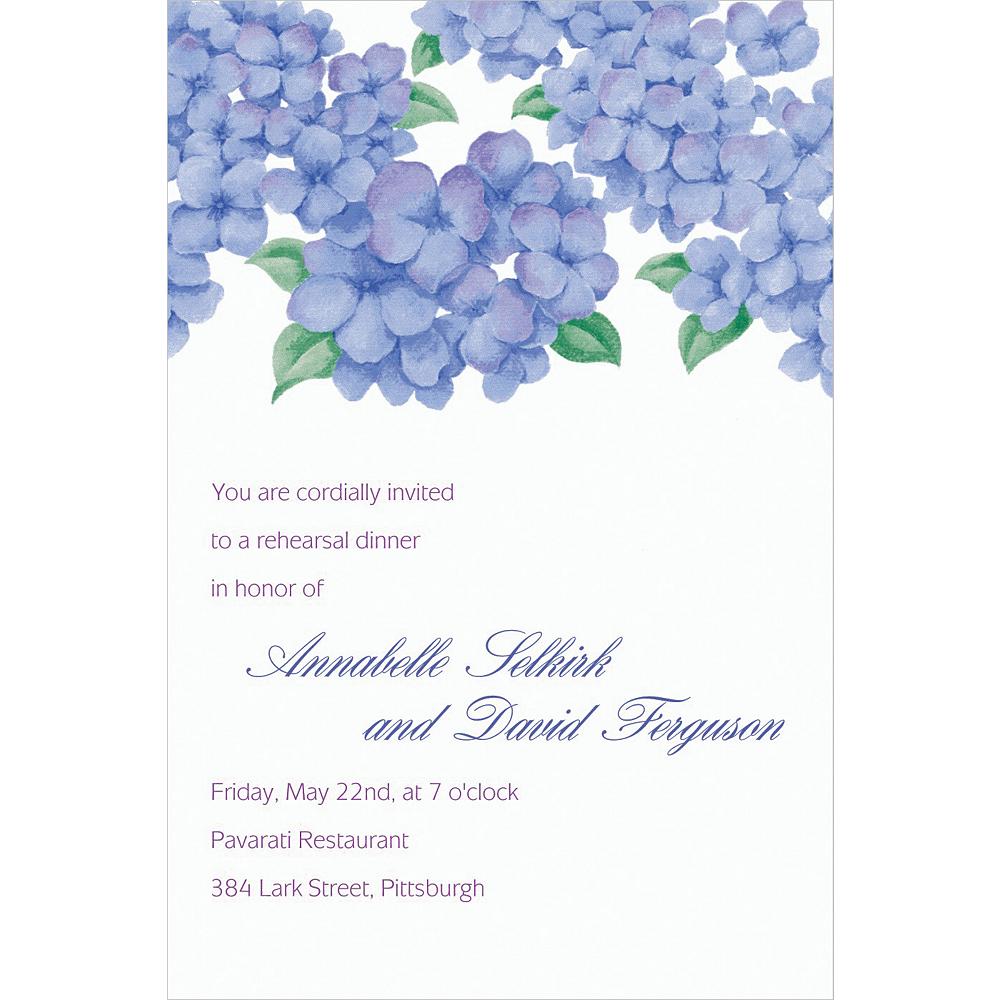 Custom Lively Hydrangeas Invitations Image #1