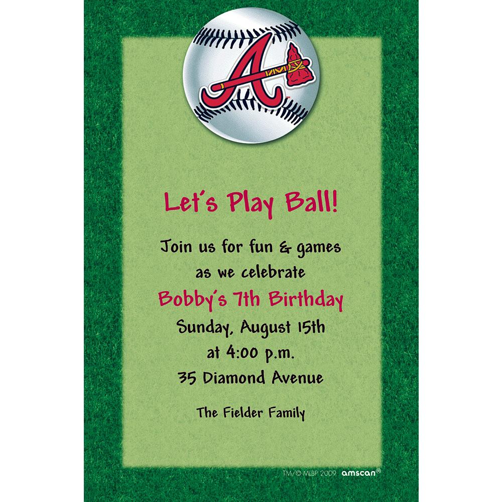 Custom Atlanta Braves Invitations Image #1