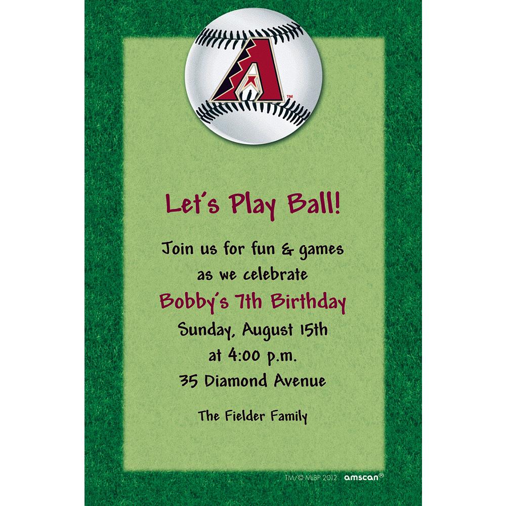 Custom Arizona Diamondbacks Invitations Image #1