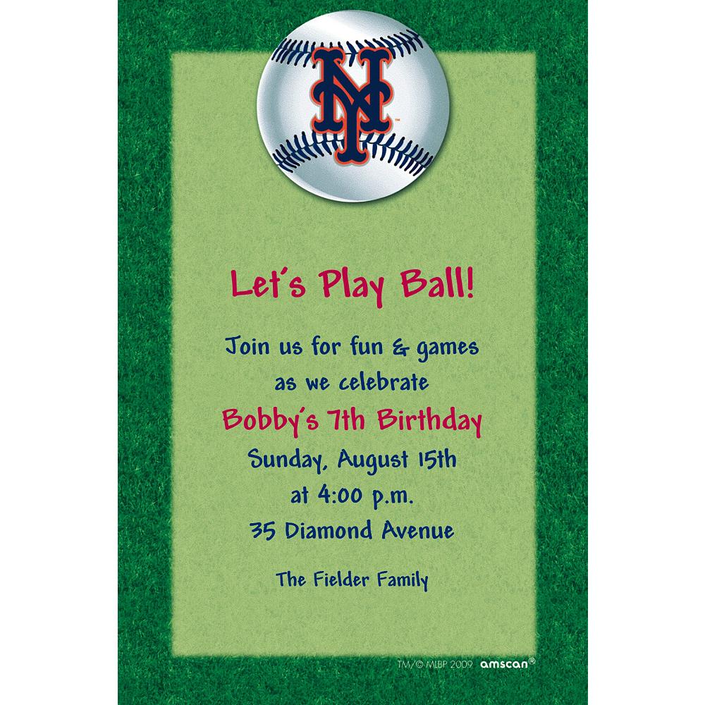 Custom New York Mets Invitations Image #1
