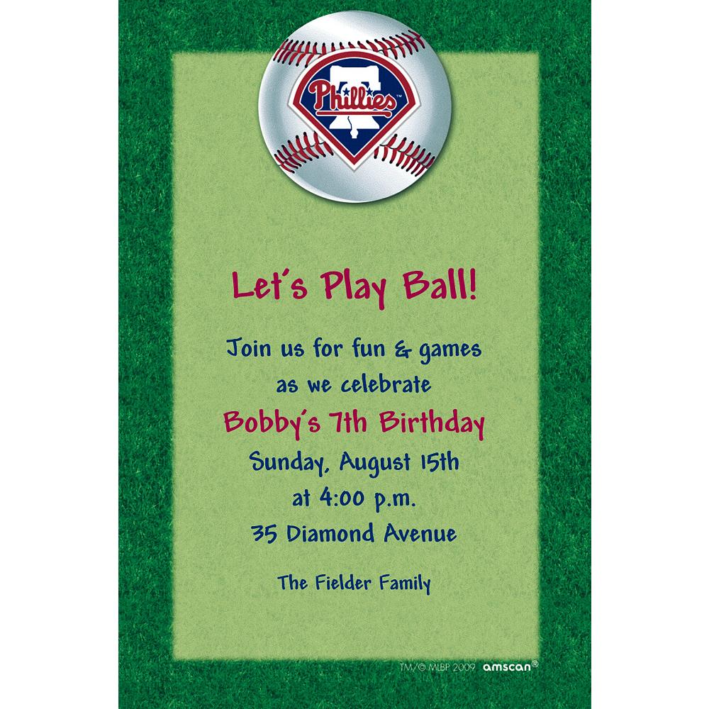 Custom Philadelphia Phillies Invitations Image #1