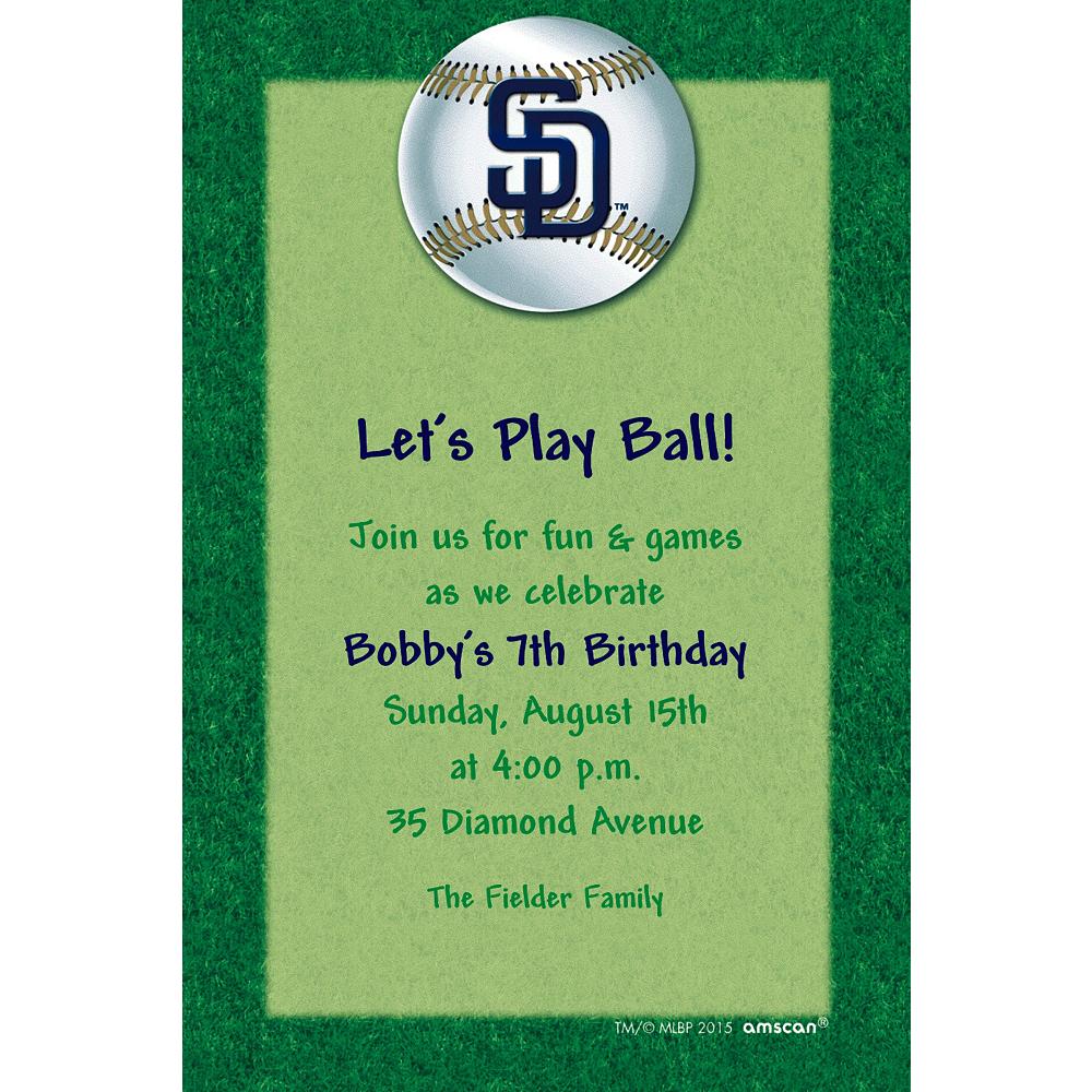 Custom San Diego Padres Invitations Image #1