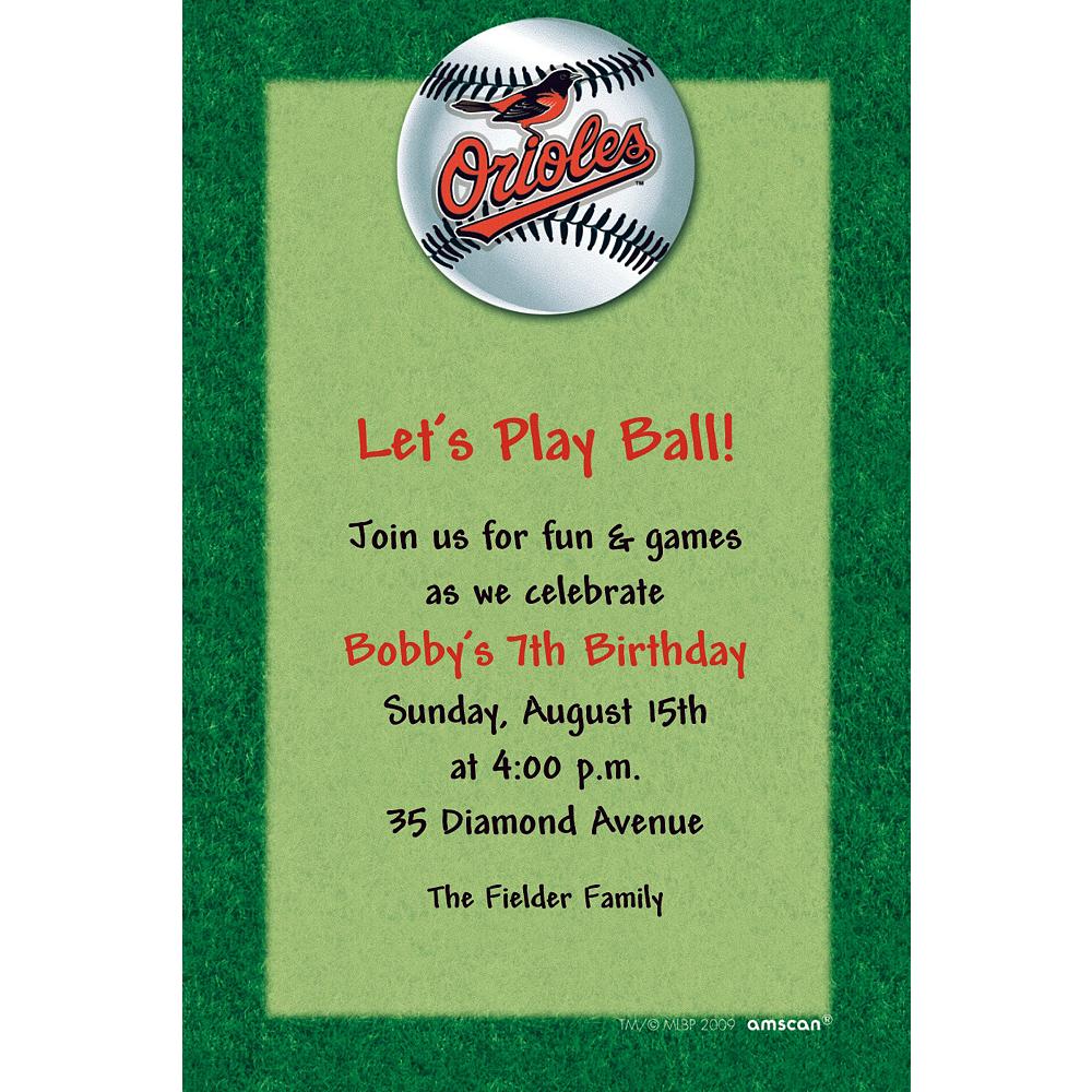 Custom Baltimore Orioles Invitations Image #1