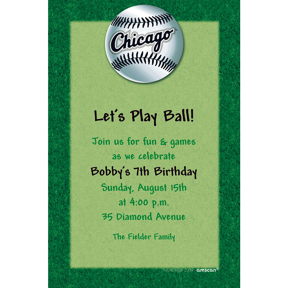 Custom Chicago White Sox Invitations Image #1