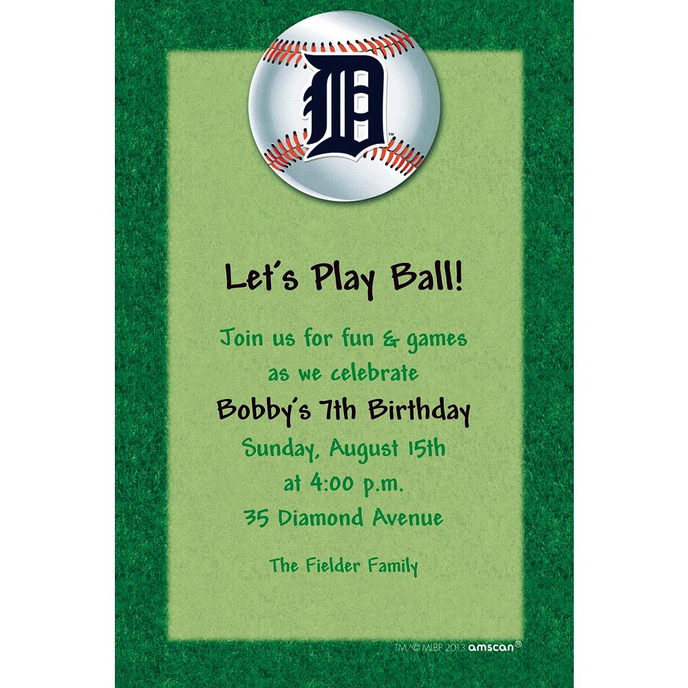 Custom Detroit Tigers Invitations Image #1