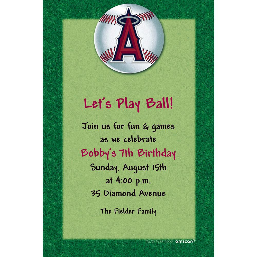 Custom Los Angeles Angels Invitations Image #1