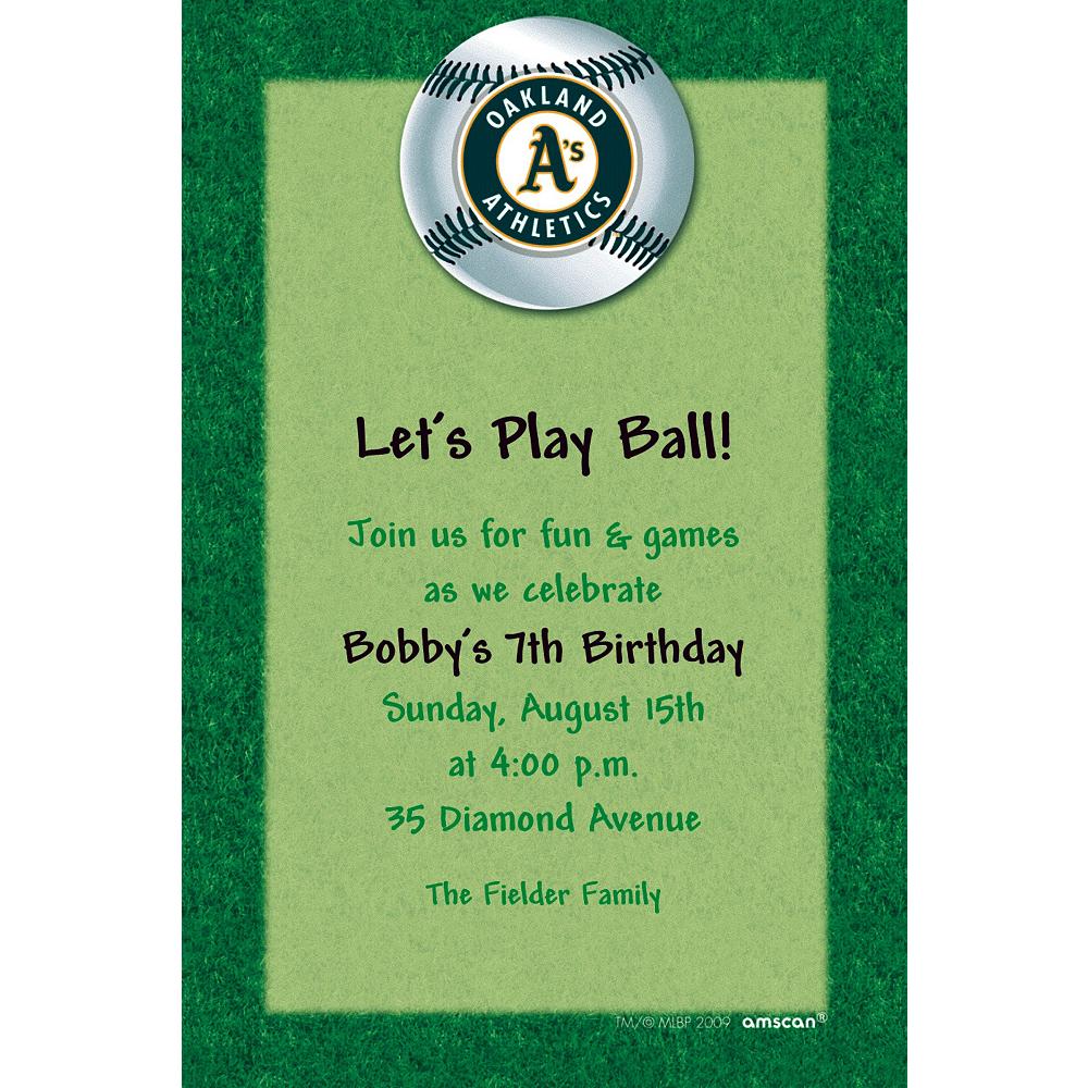 Custom Oakland Athletics Invitations Image #1