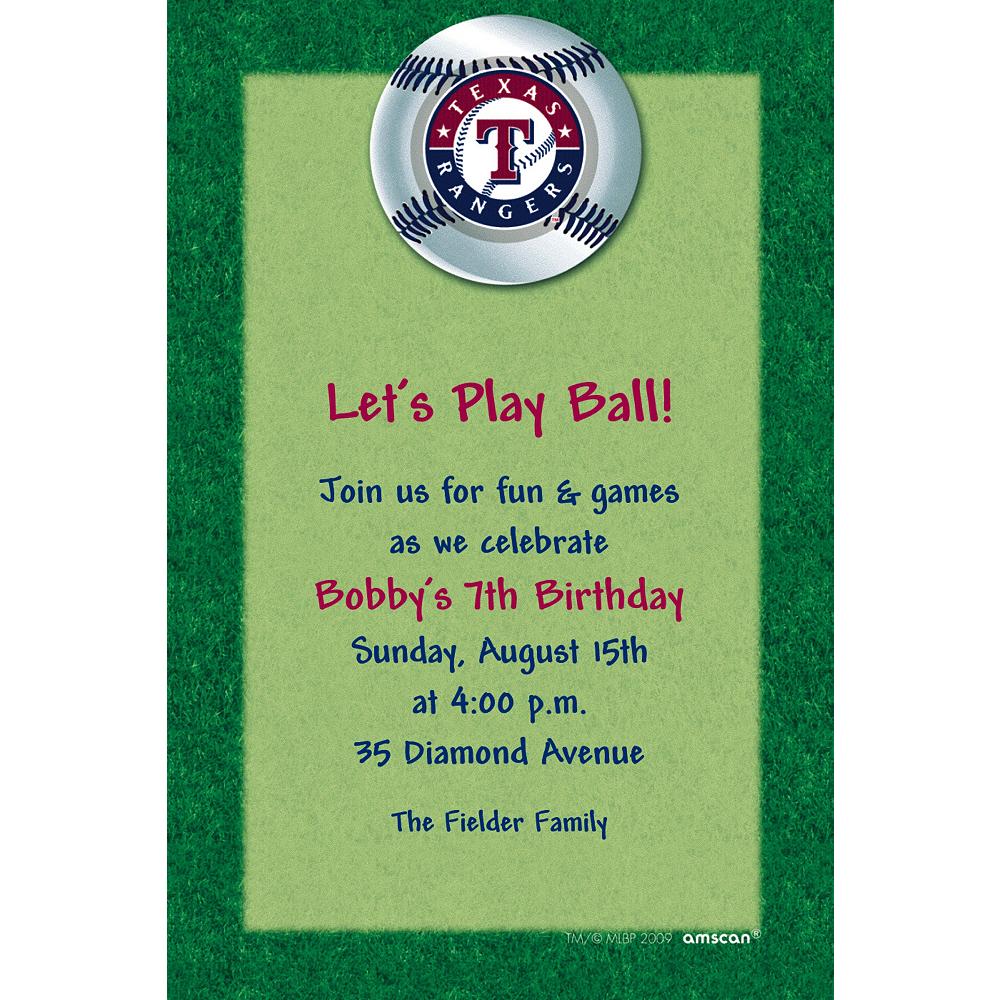 Custom Texas Rangers Invitations Image #1