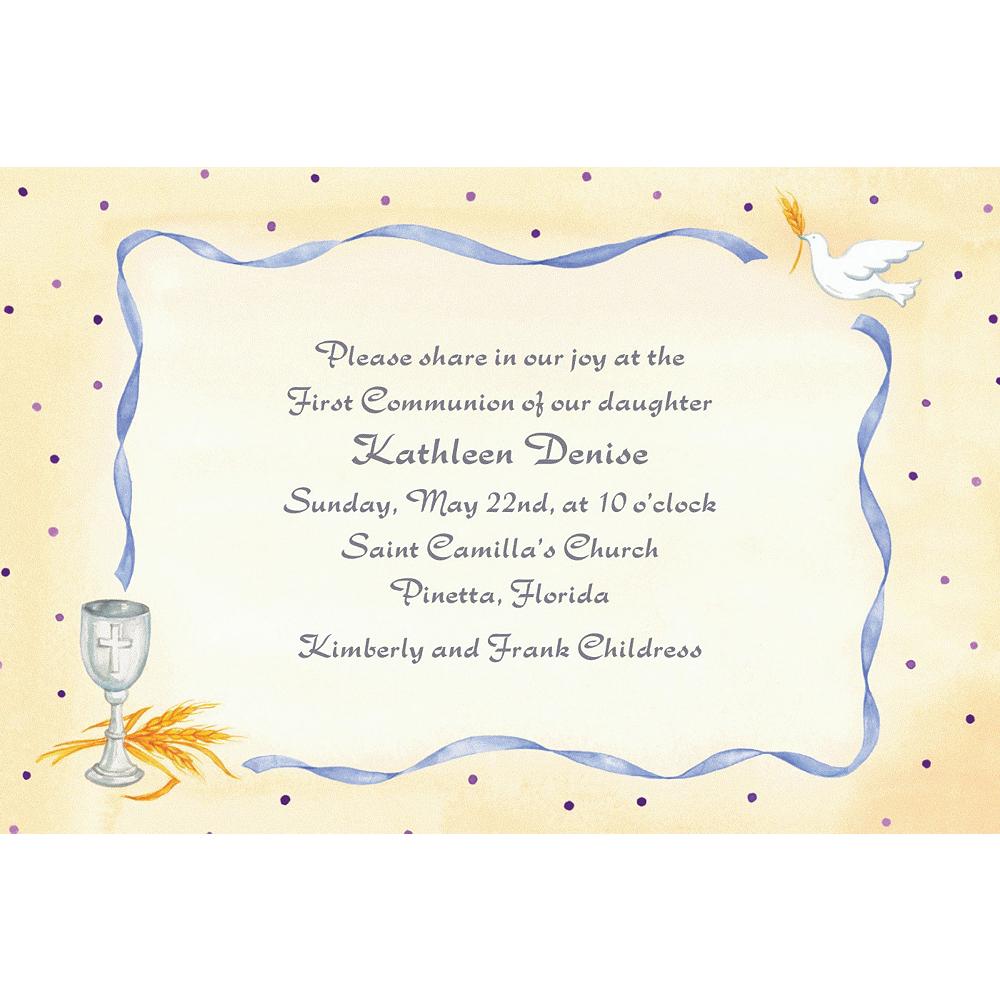 Custom Chalice, Dove & Ribbon Invitations Image #1