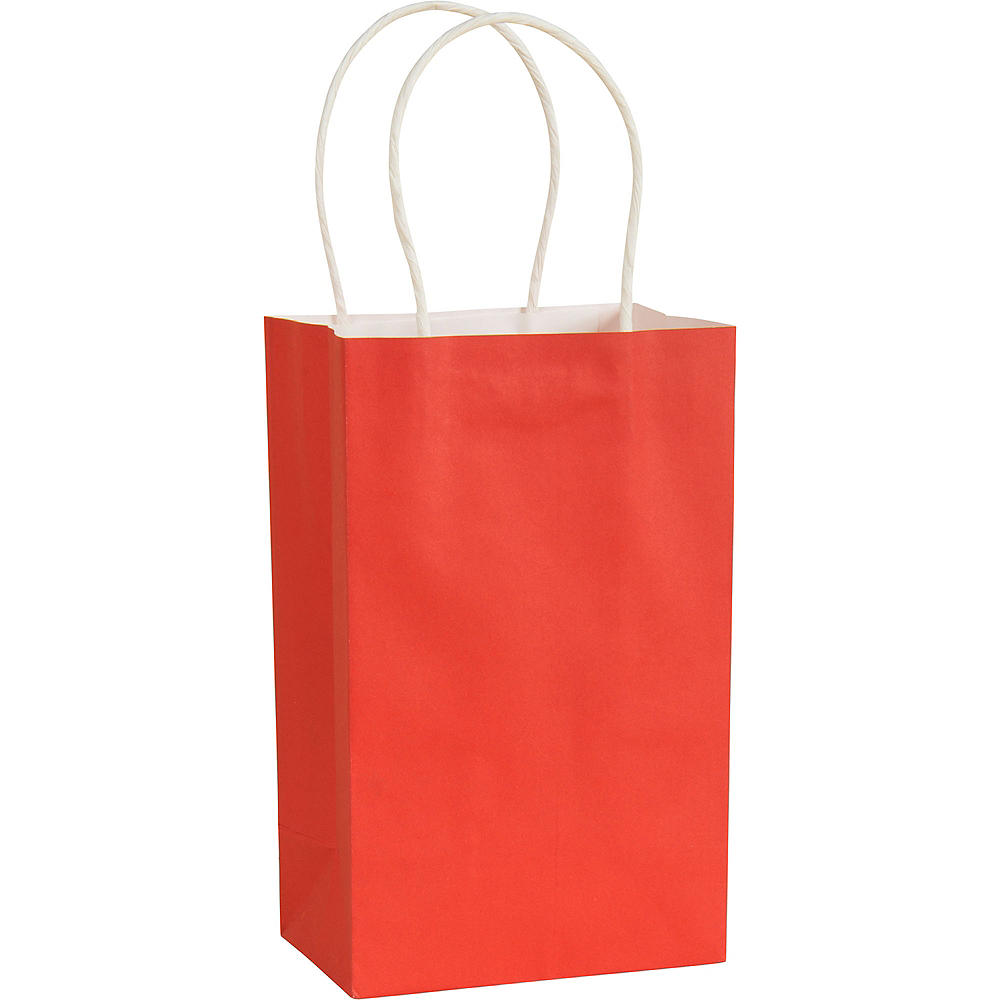 Medium Red Kraft Bags 10ct Image #1