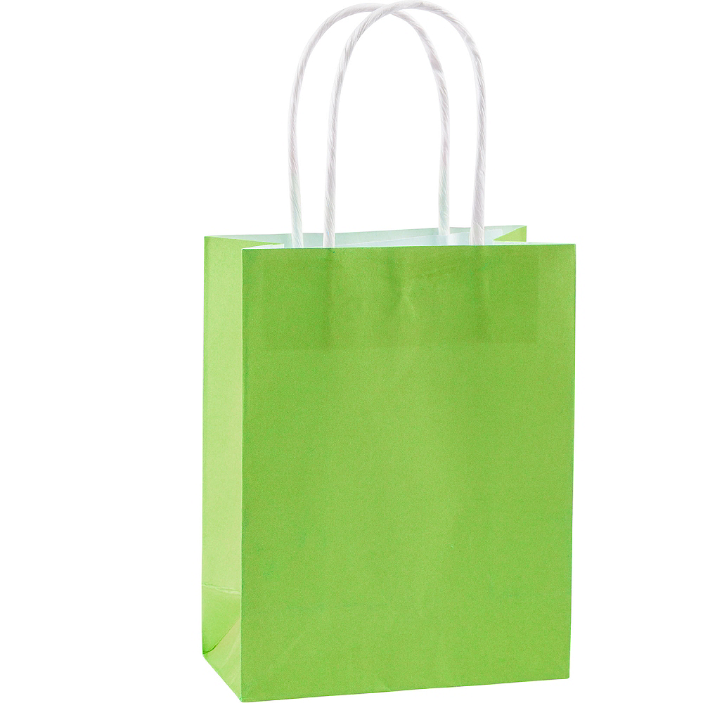 Medium Kiwi Green Kraft Bags 10ct Image #1