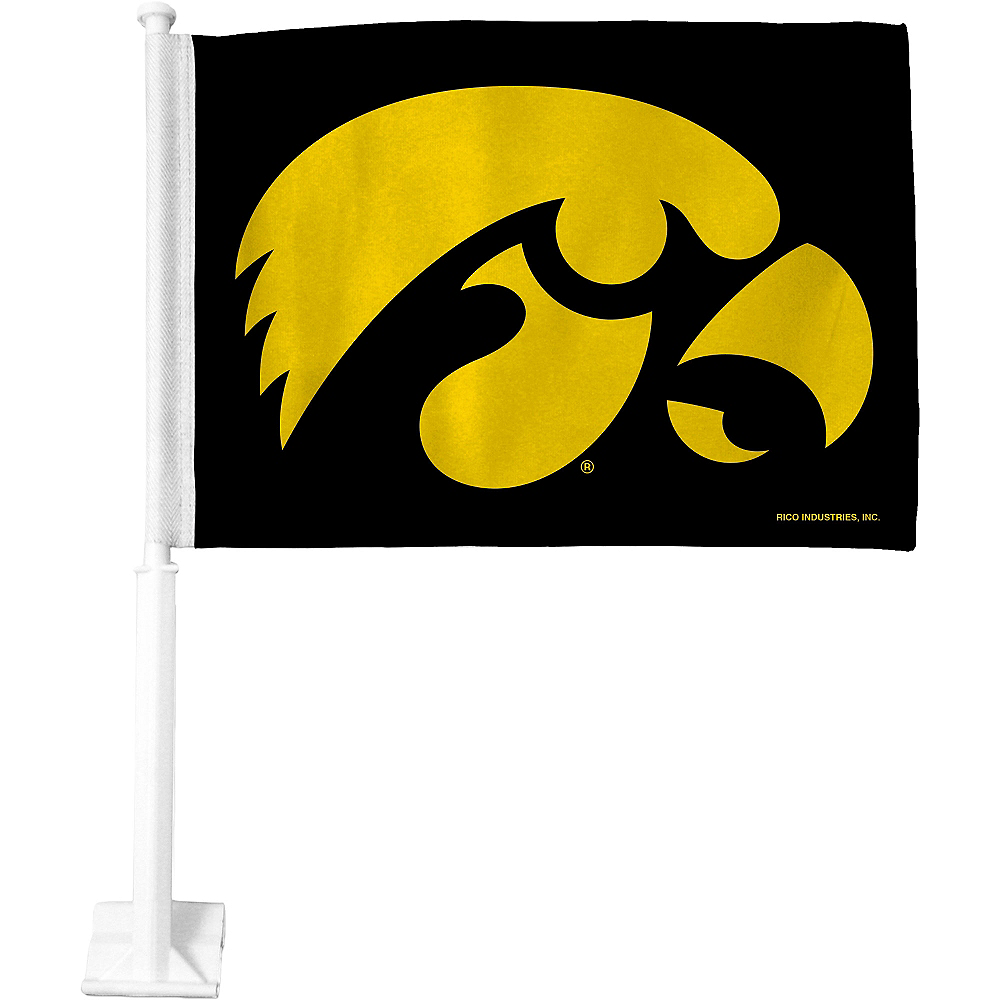 Iowa Hawkeyes Car Flag Image #1