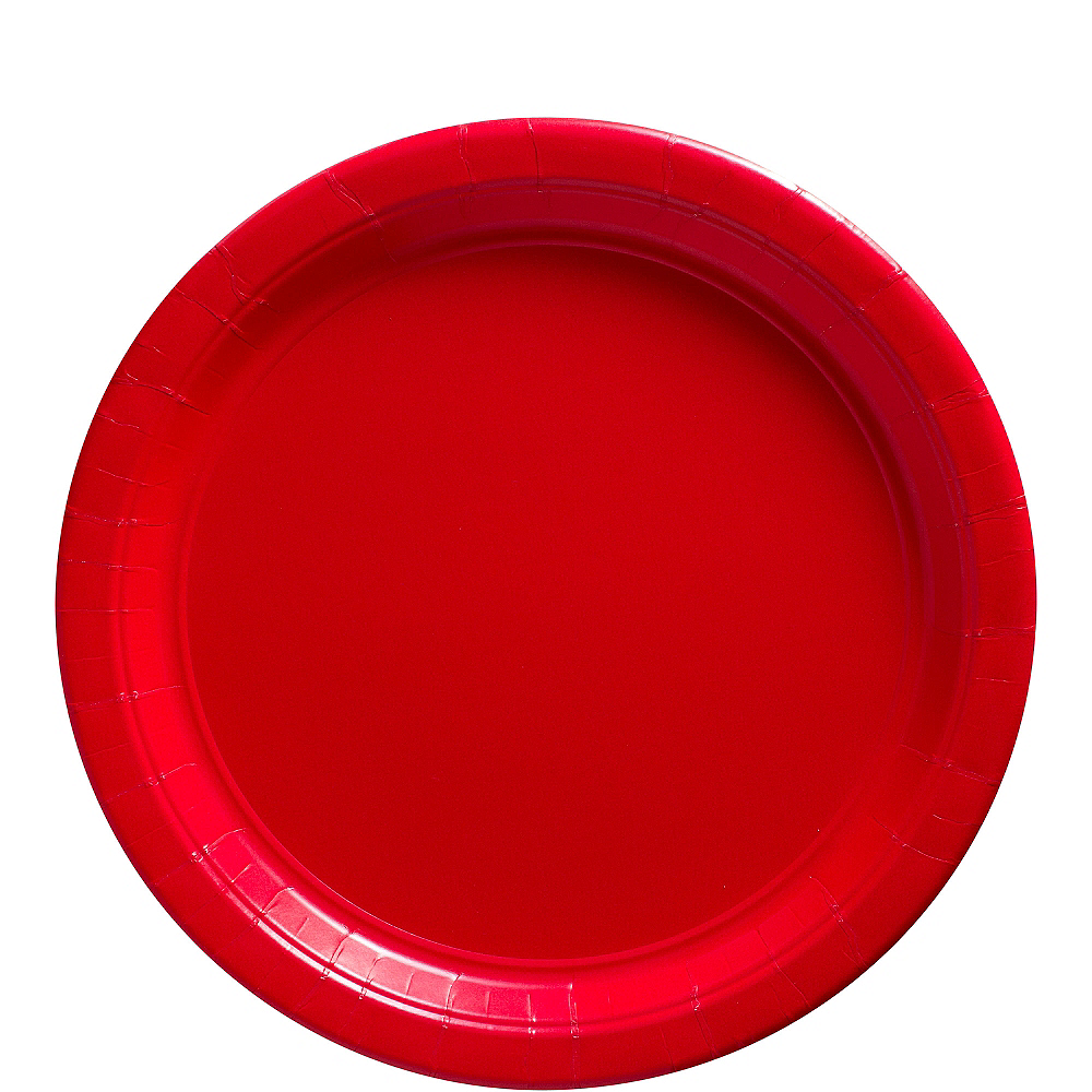Red Paper Lunch Plates 20ct Image #1