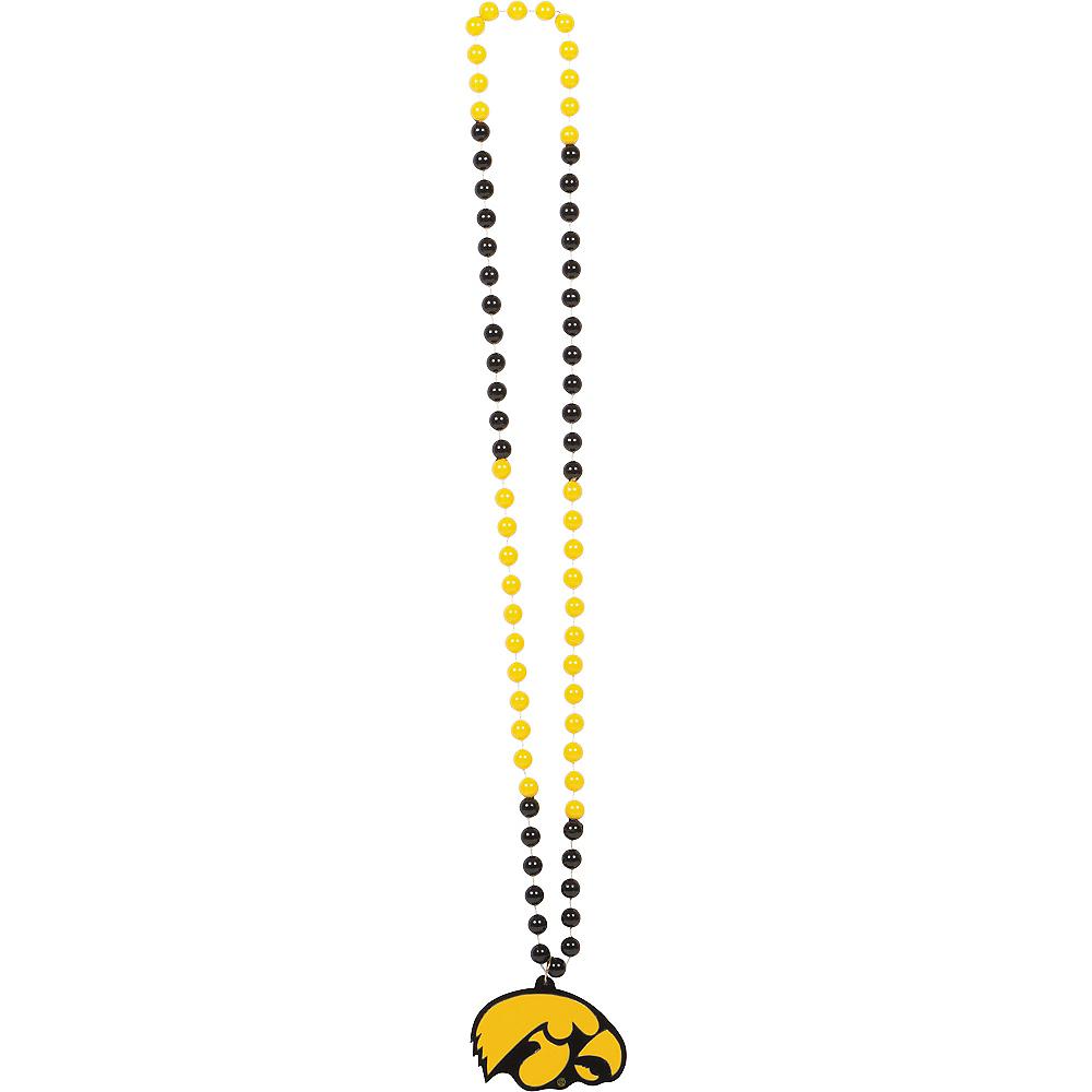 Iowa Hawkeyes Pendant Bead Necklace Image #1