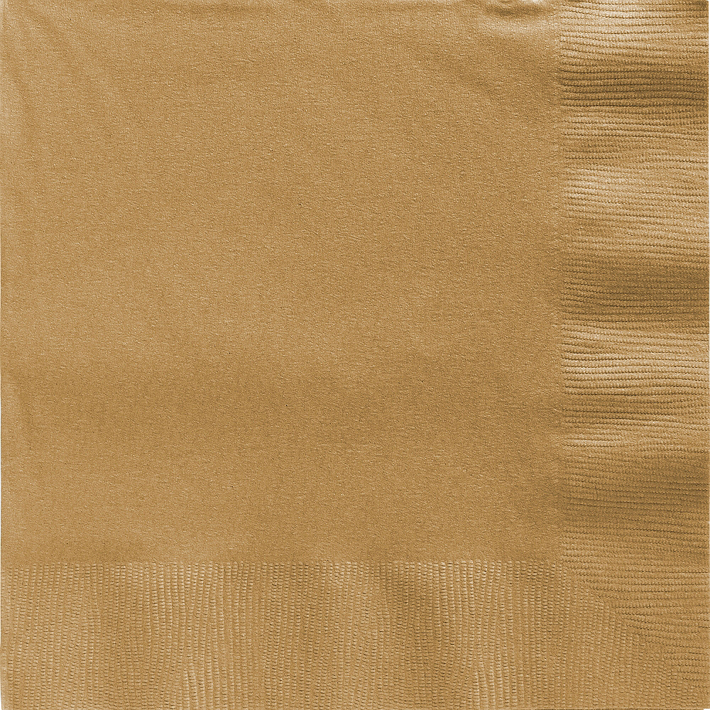 Gold Dinner Napkins 20ct Image #1