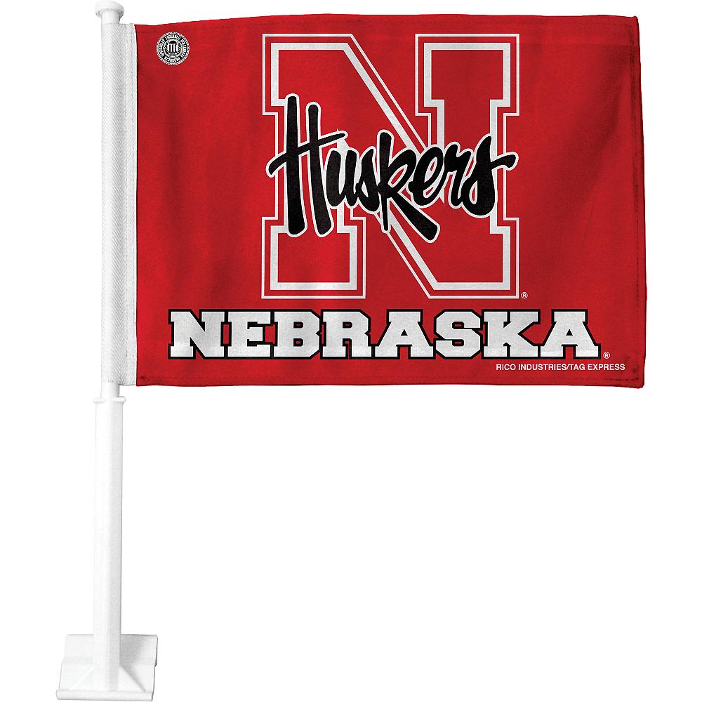 Nebraska Cornhuskers Car Flag Image #1