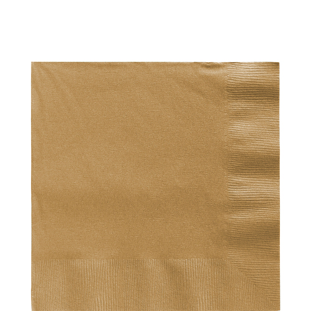 Gold Lunch Napkins 50ct Image #1