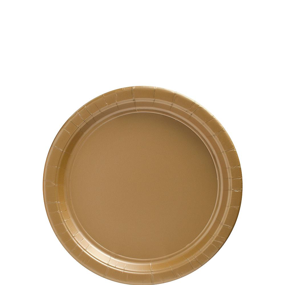 Gold Paper Dessert Plates 20ct Image #1