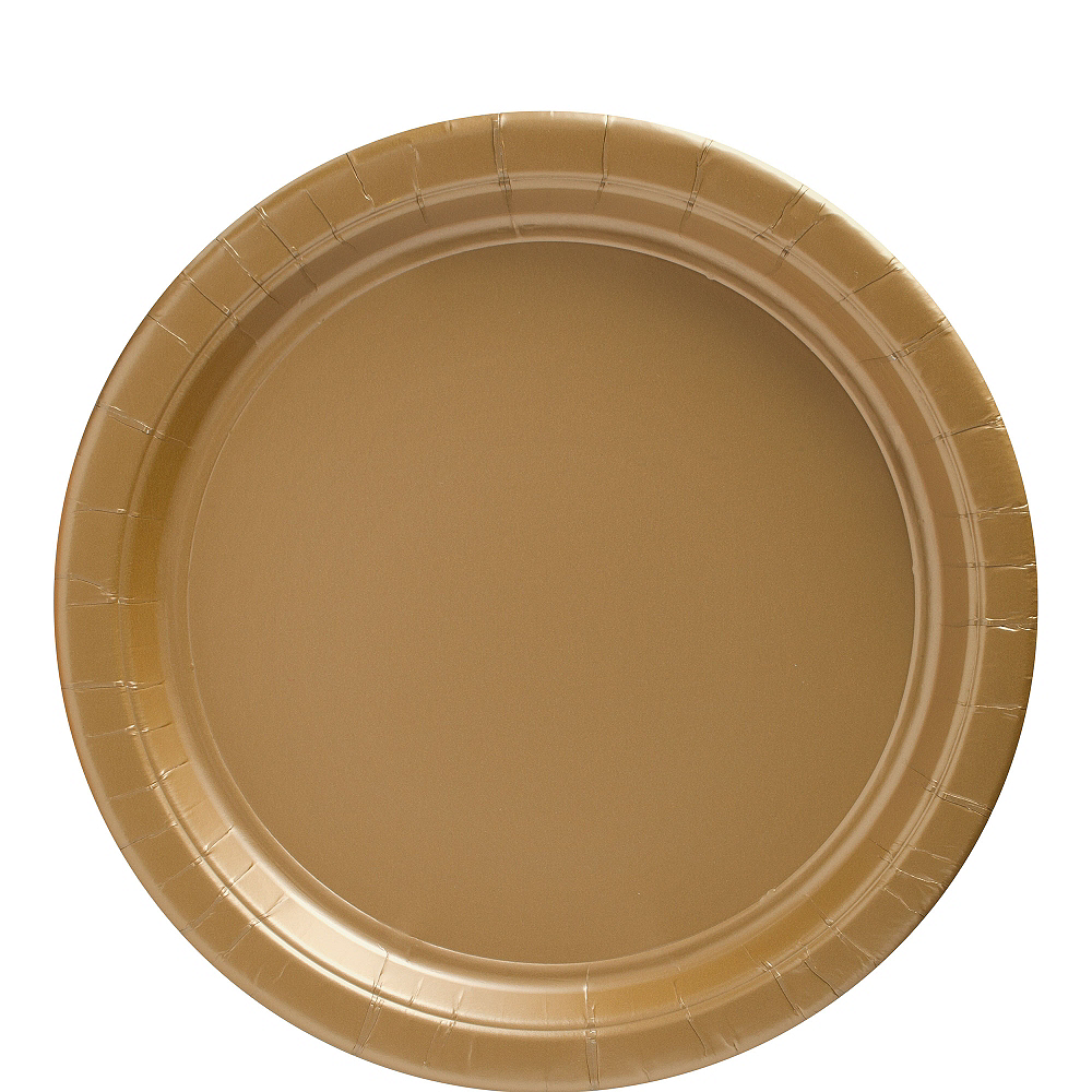 Gold Paper Lunch Plates 20ct Image #1