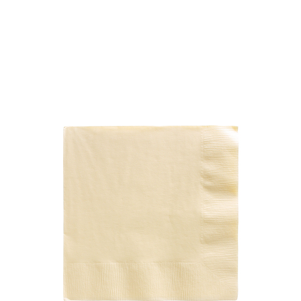 Vanilla Cream Beverage Napkins 50ct Image #1