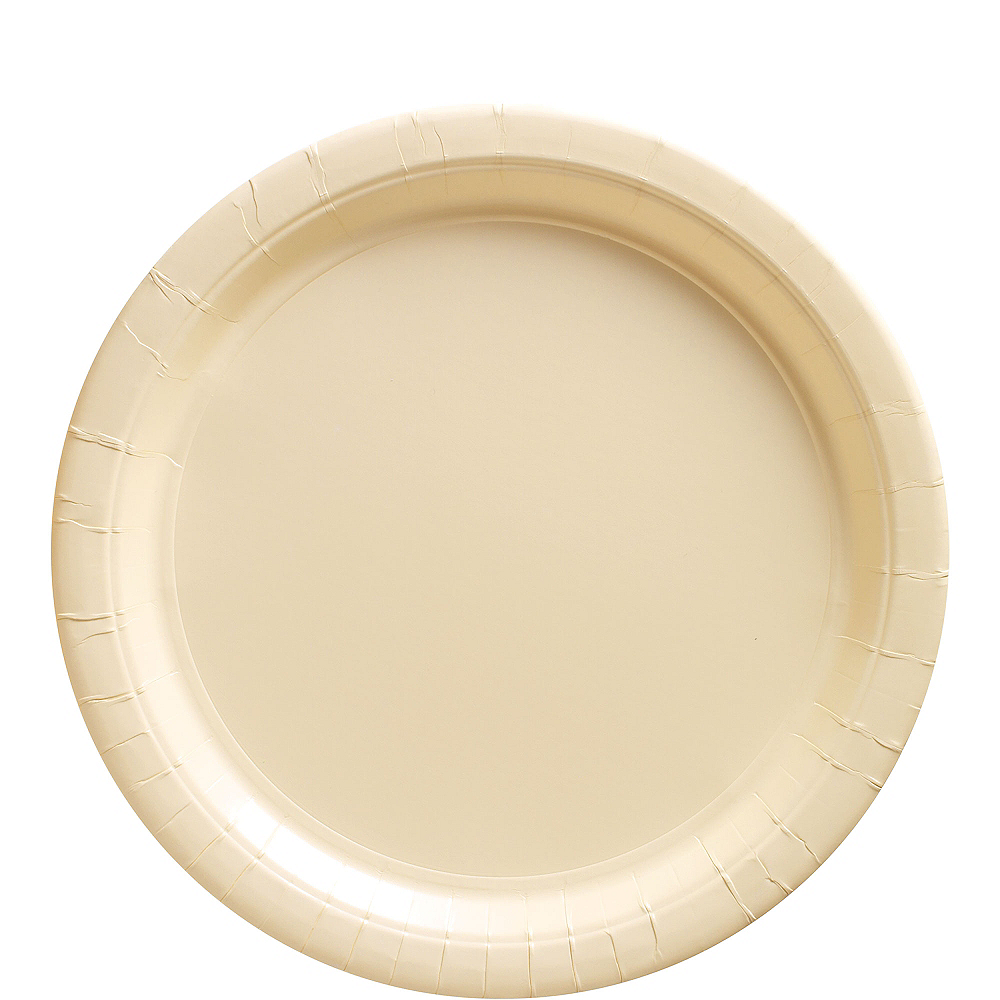 Vanilla Cream Paper Lunch Plates 20ct Image #1
