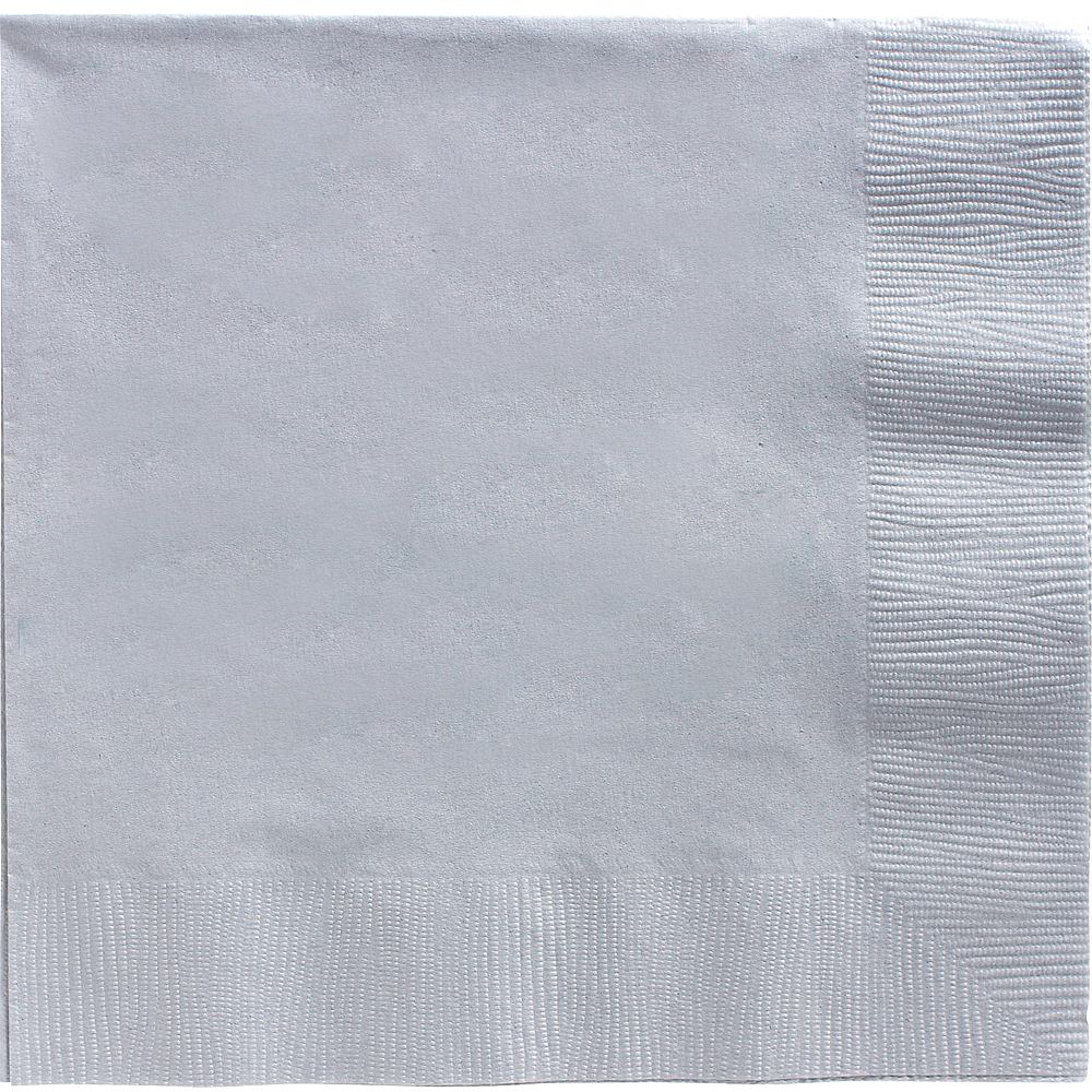 Silver Dinner Napkins 20ct Image #1