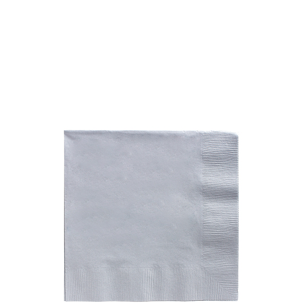 Nav Item for Silver Beverage Napkins 50ct Image #1
