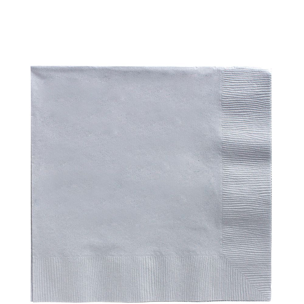 Silver Lunch Napkins 50ct Image #1
