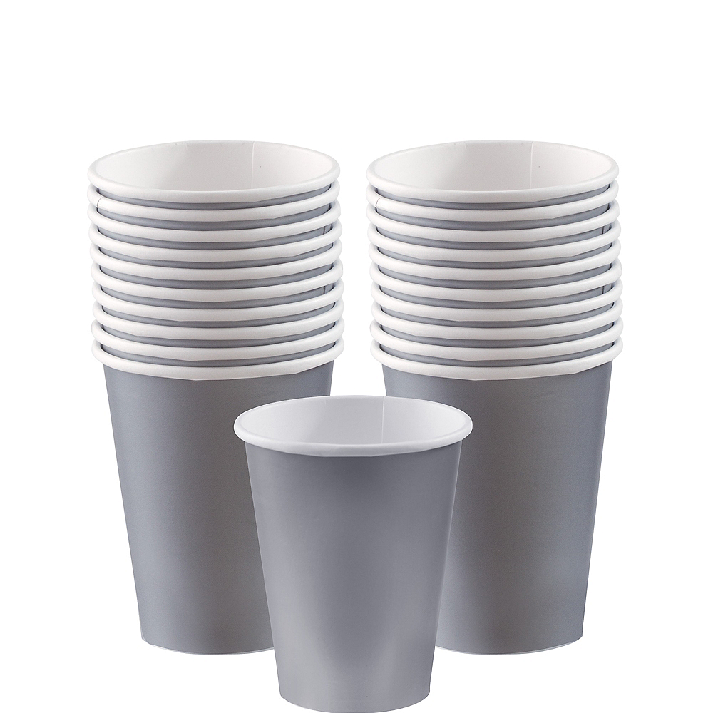 Nav Item for Silver Paper Cups 20ct Image #1