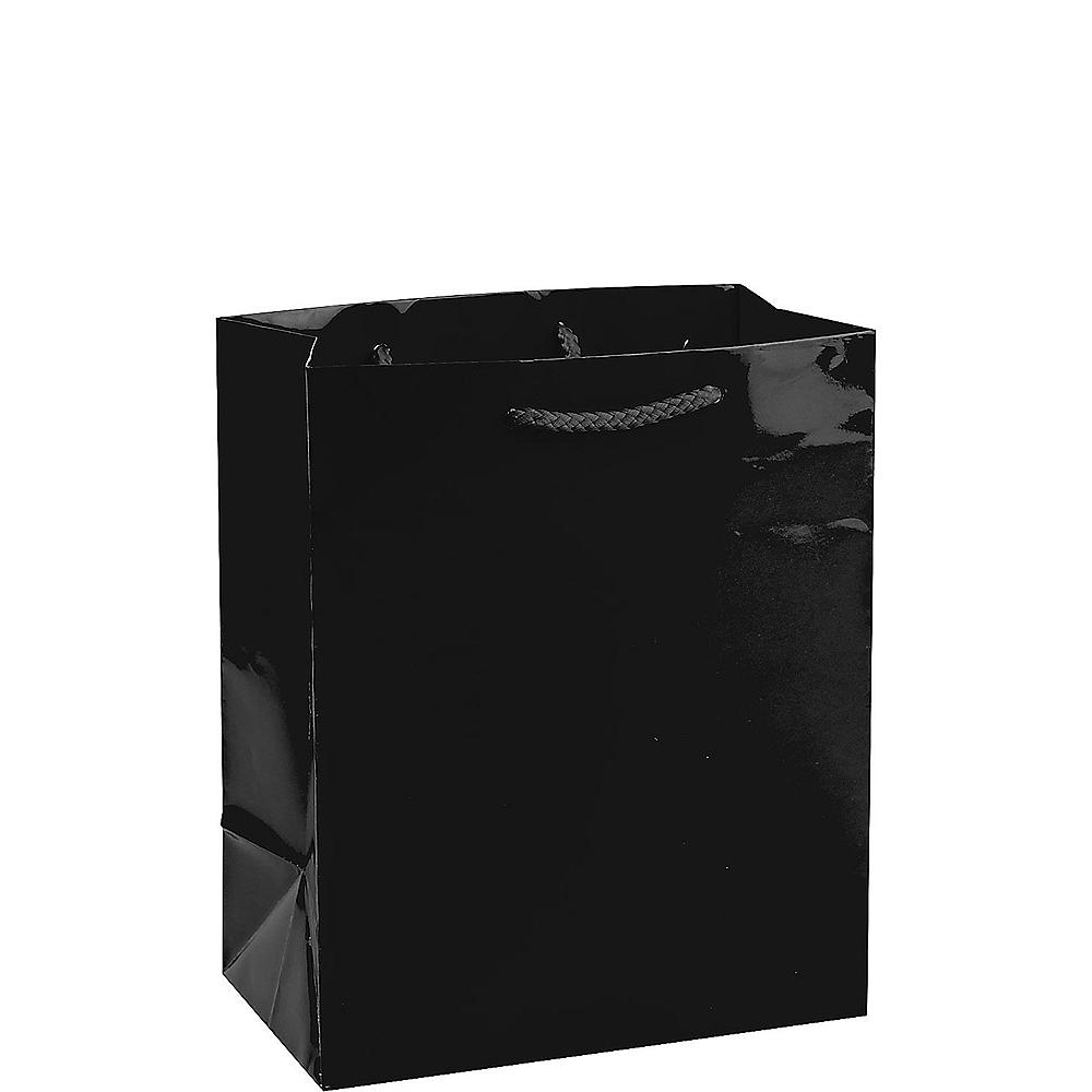 Medium Glossy Black Gift Bag Image #1