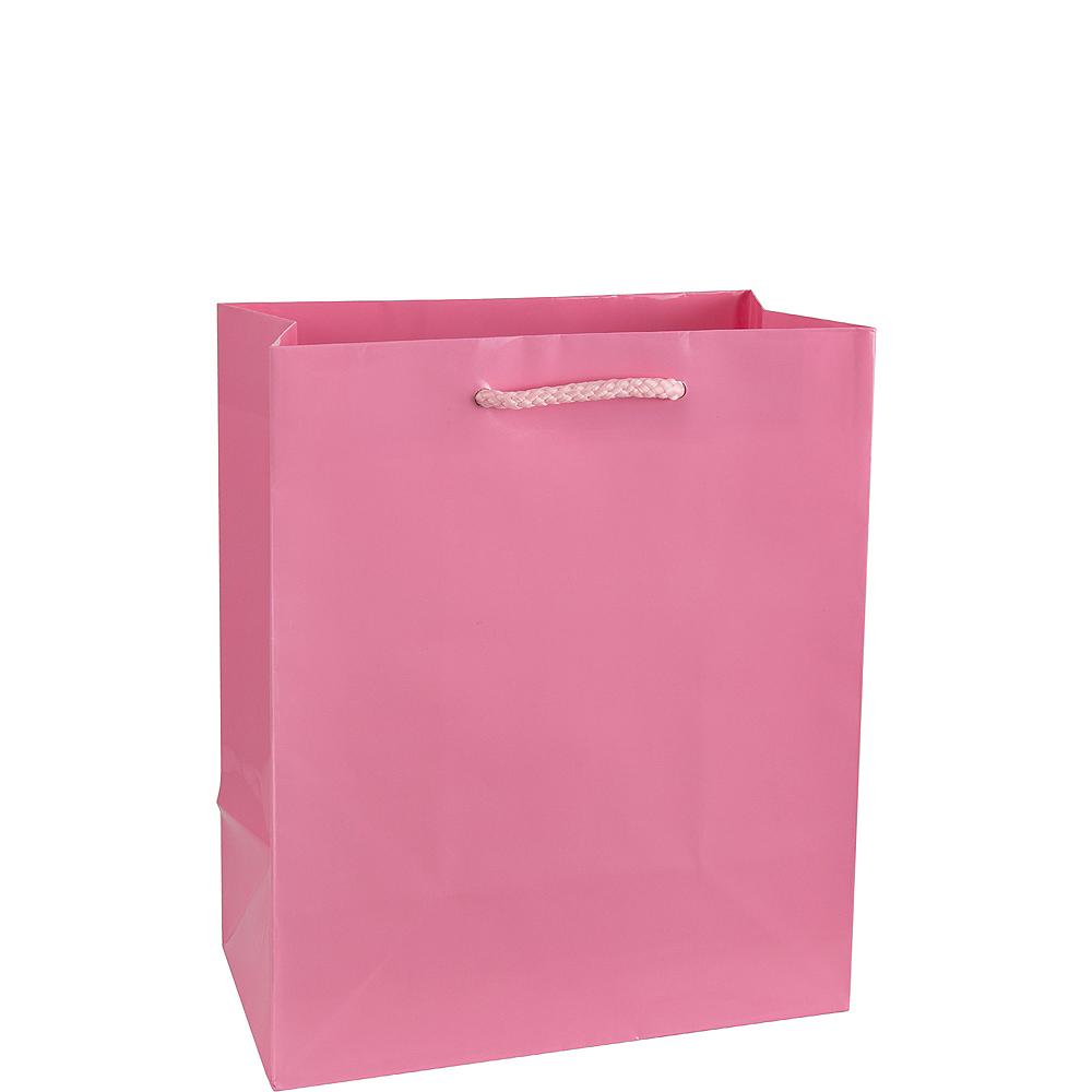 Medium Glossy Pink Gift Bag Image #1