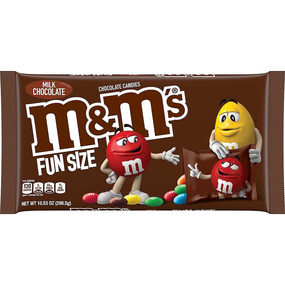 Milk Chocolate M&M's Fun Size Packs 21ct Image #1