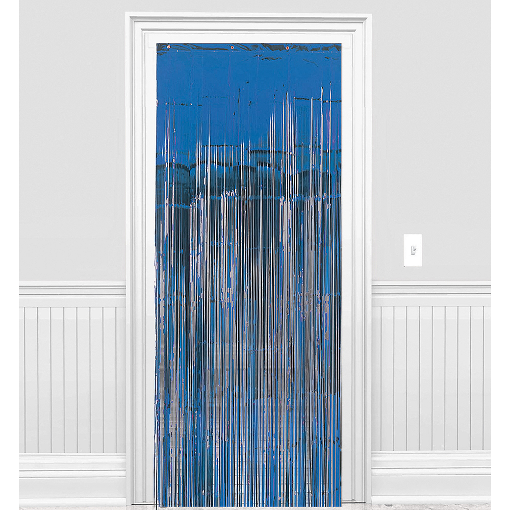 Royal Blue Fringe Doorway Curtain Image #1