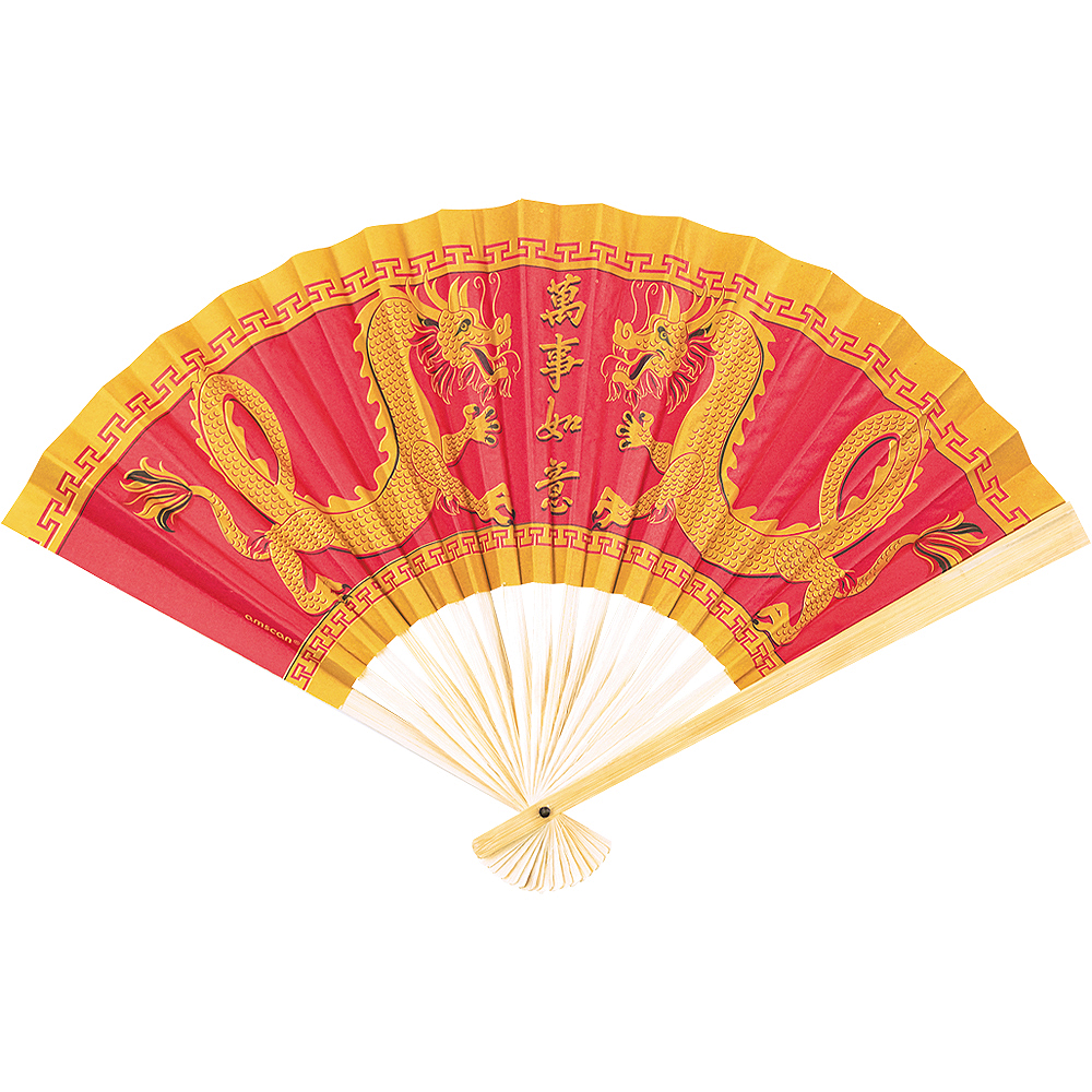 Chinese Paper Fan 13 1/2in x 8 3/4in | Party City Canada