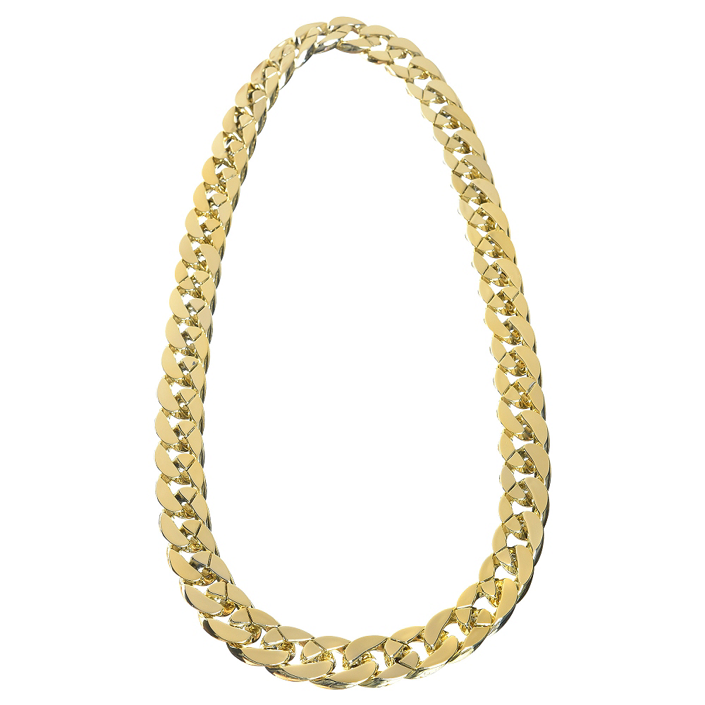 Gold Links Necklace Image #1