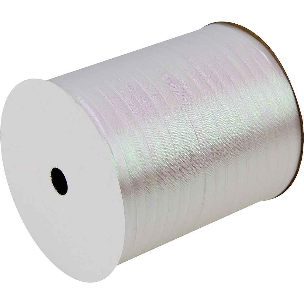 Iridescent White Curling Ribbon Image #1