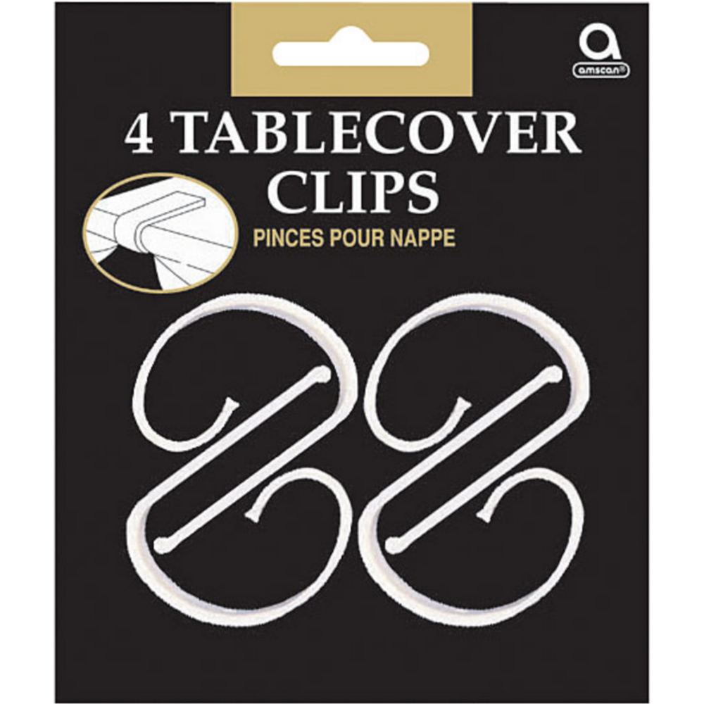 CLEAR Table Cover Clips 4ct Image #1